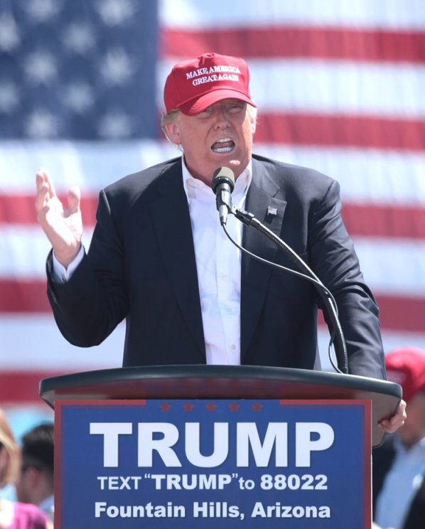 Republican nominee Donald Trump speaking at a rally in Arizona. Credit: Wikimedia Commons.